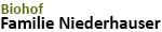 Niederhausers Biohof Logo